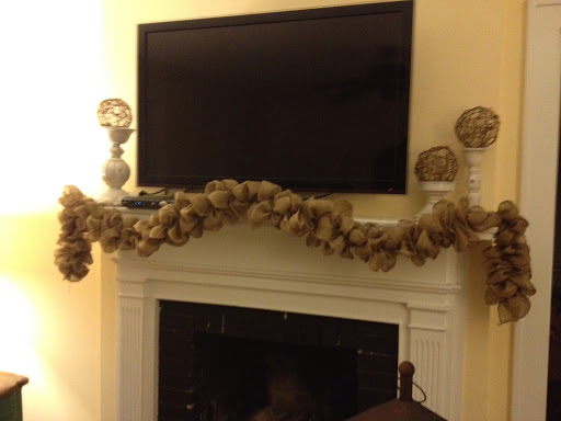 how to put ribbon on a garland