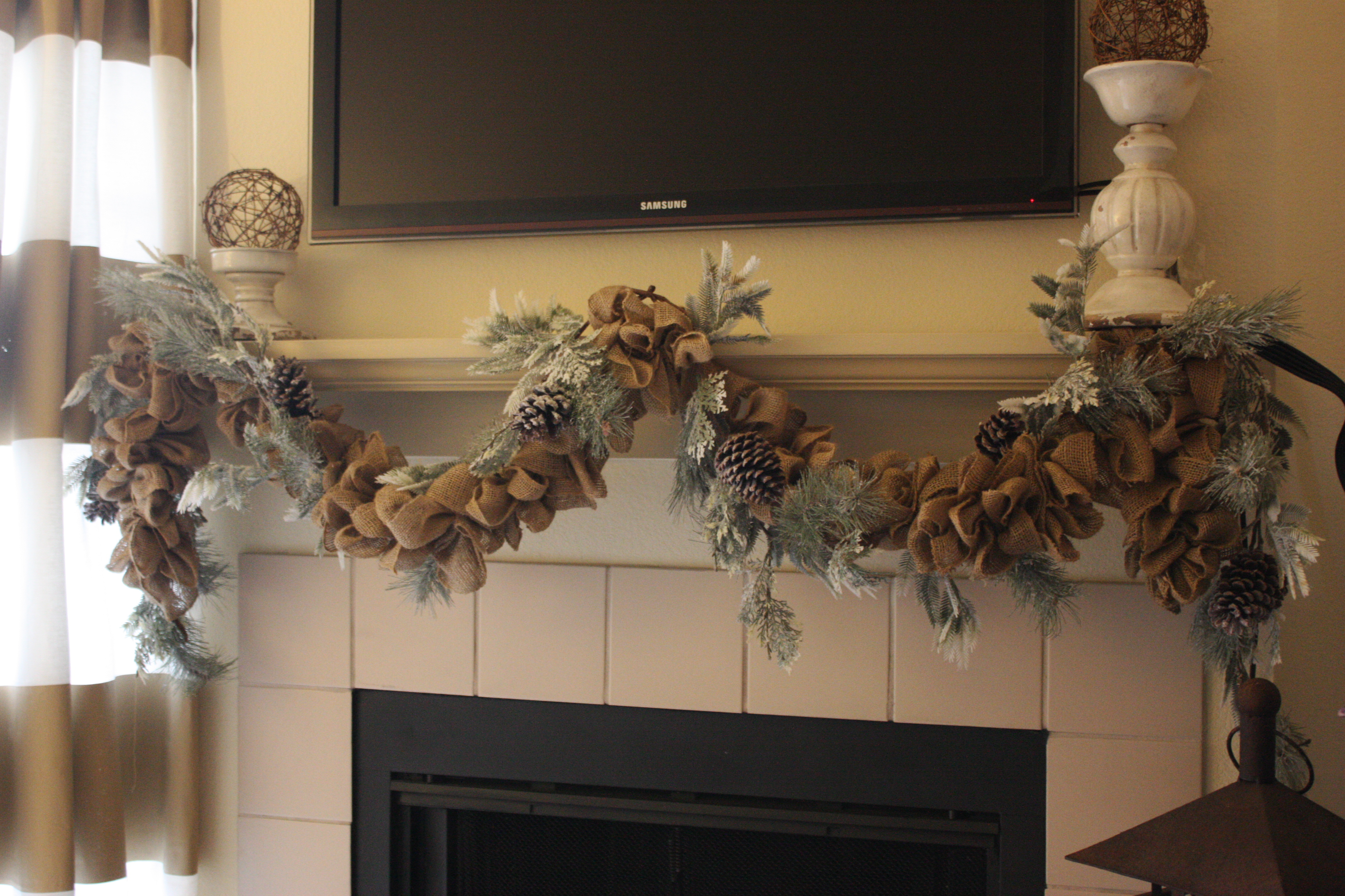 wintery burlap garland u2026 how to life in high cotton